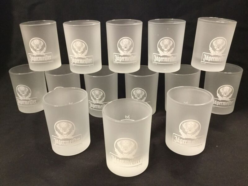 Jagermeister shot glasses frosted -14