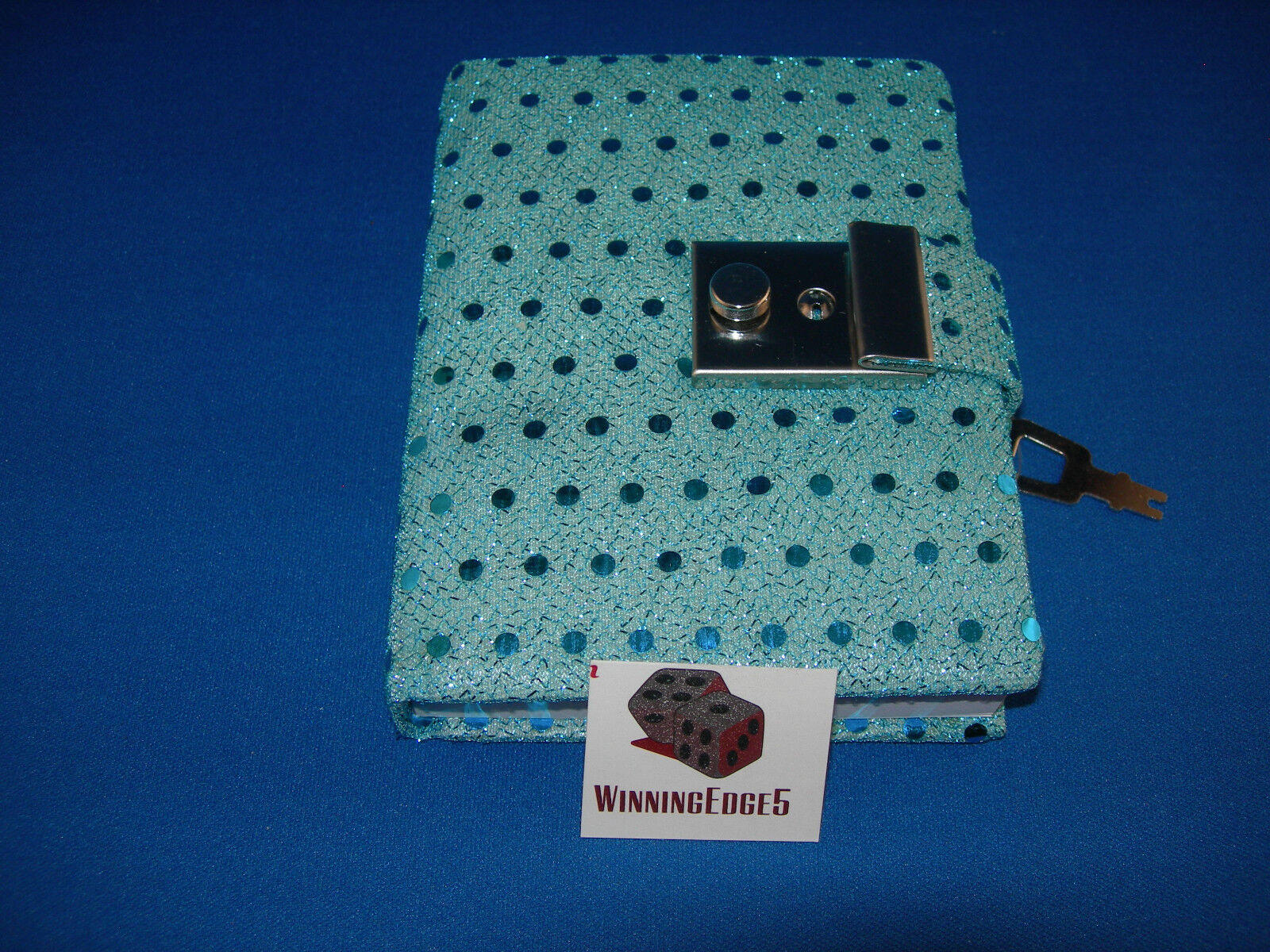 Купить NEW AQUA BLUE SEQUIN DIARY WITH A BUILT IN LOCK AND 1 KEY FREE SHIPPING