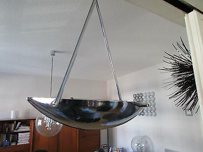 Stylische Chrom Deckenlampe-BAUHAUS Design