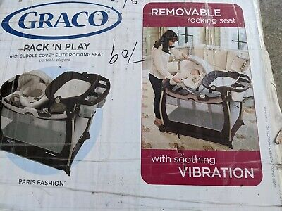 Graco Pack 'n Play Playard with Cuddle Cove Elite Rocking Seat in Paris Fashion