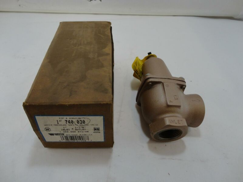"""New Watts 740 030 Water Pressure Safety Relief Valve 1"""" Inlet x 1-1/4"""" Outlet"""