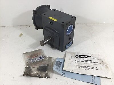 New Boston Gear F72420b7j 700 Series Worm Gear Speed Reducer Ratio 201