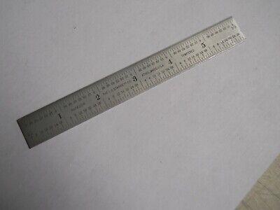 Starrett C622r Steel Rule 6 Wdecimal Equivalents  Used