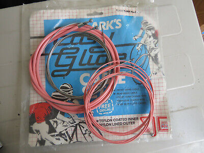 """White Vintage NOS Bicycle 35/"""" Inner Brake Cable /& 25 3//4/"""" Housing"""