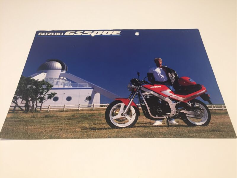 Sales Brochure Leaflet Spec Sheet Suzuki GS500E GS gs 500 e E 500cc gs500 SUZUKI