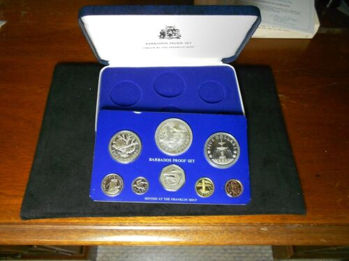 1976 Barbados 8 Coin Proof set with C.O A. and  box Free Shipping