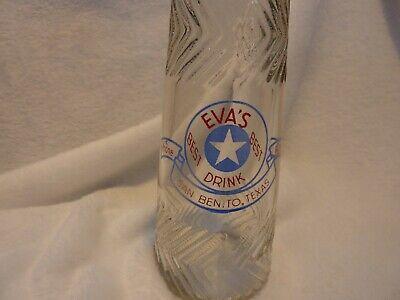 Eva's Best Drink milk bottle San Benito, Texas - WWII