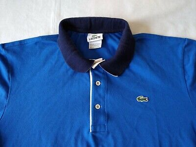 Lacoste Polo Shirt Men's Size 7 / L Short Sleeve Two Tone Blue