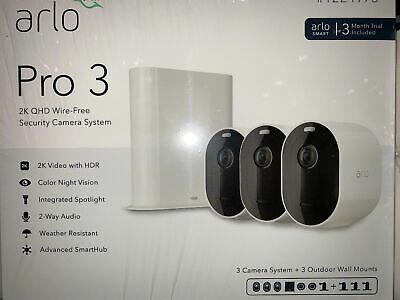 Arlo Pro 3 2K HDR Wireless Security Camera Kit VMS4340P-1CCNAS VMS4340P