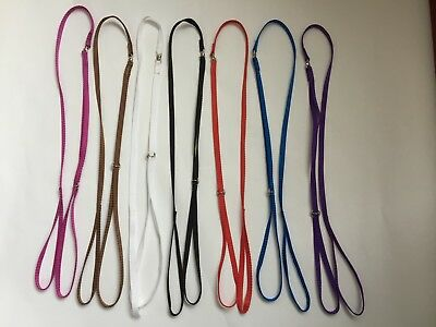 (Dog Show Flat Nylon Loop Lead - Various Colours )