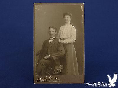 Historical Couple (Karlshamn Sweden Young Couple Newlyweds? CDV Photo Historic)