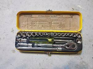 21 Piece Stanley Socket Set Metric and Imperial Sinagra Wanneroo Area Preview