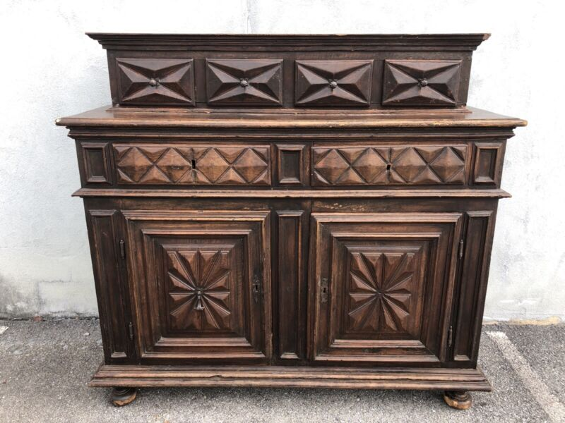 "18th Century Italian Or Spanish Walnut Court Cupboard 61"" X 65"" X 25 1/2"""