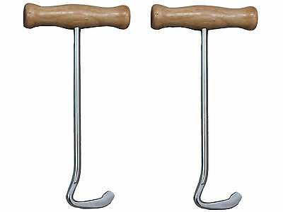 Derby Tall Riding Boot Pulls with Wooden Handles Pair for Riding Boots