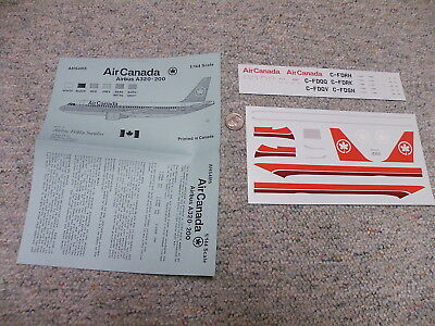 AHS Airline Hobby Supplies decals 1/144 AHS4015 Air Canada Airbus A320-200 H70
