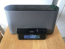 Sony Dream Machine ICF-CS10iP iPod iPhone 30 pin Dock and AM/FM Clock Radio
