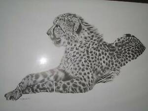 CHEETAH PRINT IN GOOD QUALITY METAL FRAME Alexandra Hills Redland Area Preview