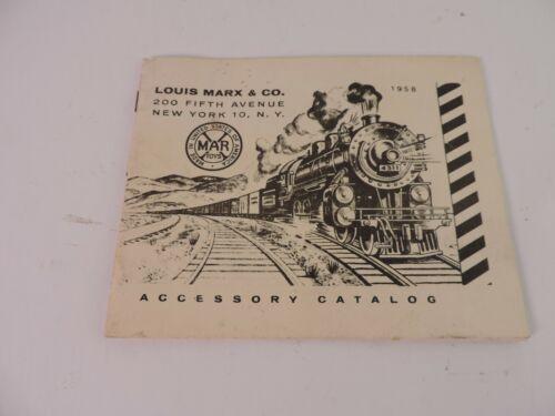 1958 Louis Marx & Co Trail Accessory Catalog New York NY USA