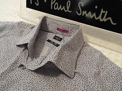 "PAUL SMITH Mens Shirt 🌍 Size 16"" (CHEST 42"") 🌎 RRP £95+📮 FLORAL LIBERTY STYLE"