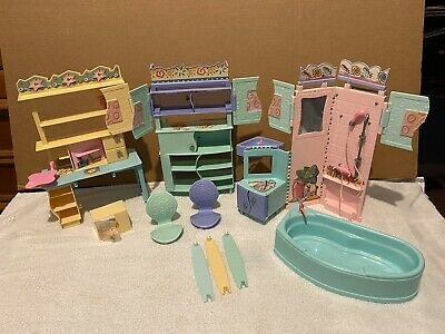 Barbie-All Around Home Playsets-incomplete- Bath, Dining, And Bedroom