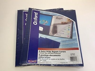 2 Pocket Folders Bulk (2x Oxford Extra-Wide Twin Pocket Folder W/ 3-Prong Fasteners, Dark Blue, 4)