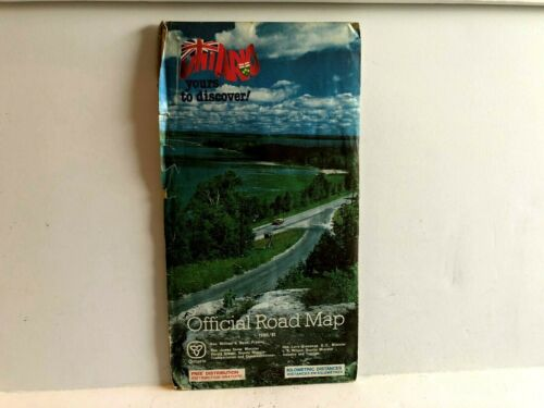 Ontario Official 1980 1981 ROAD MAP Tourist Road Folded