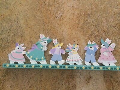 Easter decor - Hand-painted wood mantel display 21