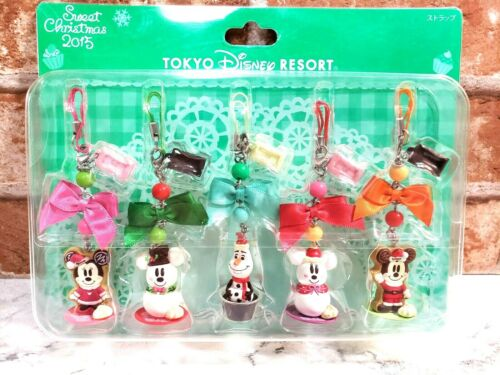 TOKYO Disney Resort Christmas Mickey Minnie Strap Pair Set GingerBread 2015