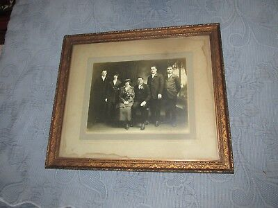 Antique Victorian Pressed Detail Gold Relief Picture Frame,Family Photo,12 by 14