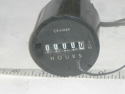 Cramer 636w Hour Meter Timer Motor 115vac 2.7w Panel Mount Resettable 5 Digit