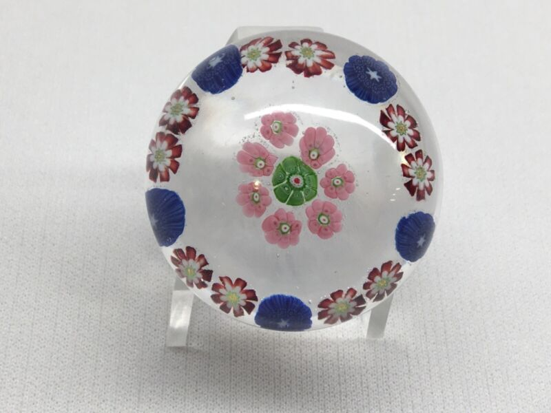 Antique CLICHY Millefiori PAPERWEIGHT Miniature Excellent Condition