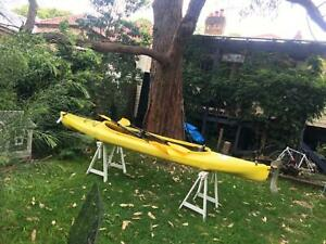 2 person canoe with rudder