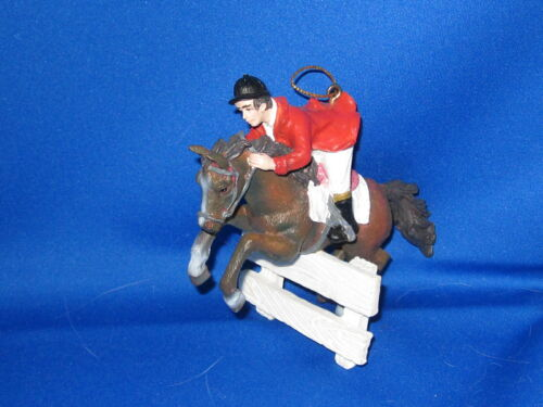 Christmas Horse Ornament HUNTER JUMPER over Fence       FREE SHIPPING