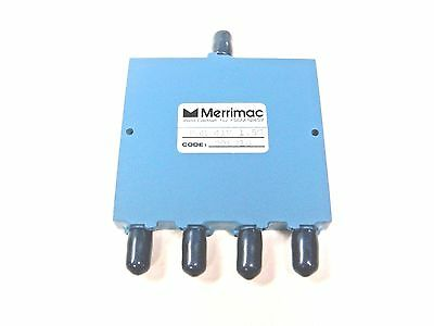 (1) MERRIMAC PDM41M1.5G 4-Way SMA Power Divider Combiner 1.0-2.0GHz 50Ω