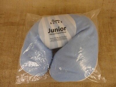 Junior Travel Pillow (TRAVEL PILLOW BUCKY JUNIOR U-SHAPE BLUE SILKY BAMBOO FABRIC NEW FACTORY)
