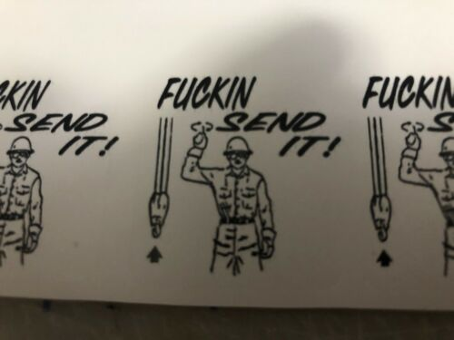 Funny F/CKIN  SEND IT Hard Hat ,Welding Helmet Sticker Construction Decals