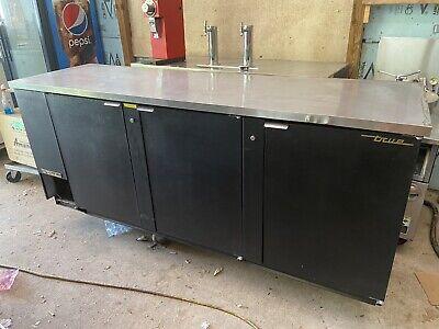 True Tbb-4 90 3 Swing Door Back Bar Refrigerator Cooler 152 6-pks Of 12 Oz Cans