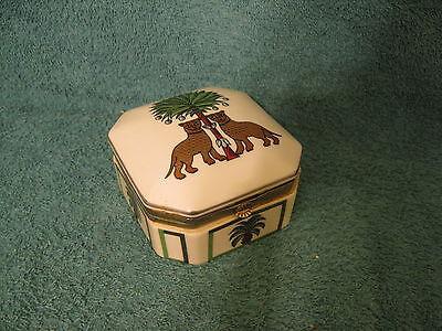 Porcelain Trinket Box The Haldon Group Les Guepards  Item  S430