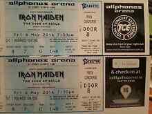2 x IRON MAIDEN CONCERT TICKETS $220 Turvey Park Wagga Wagga City Preview