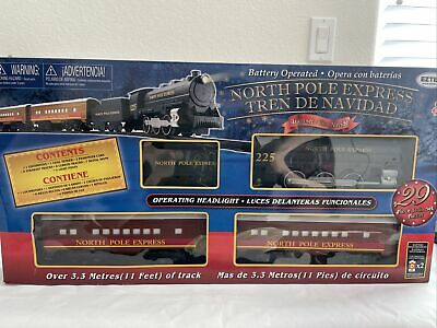 EzTec North Pole Express Christmas Train Set Battery Operated Holiday