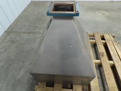 D-s Stainless Steel Square Gravity Hopper Funnel Extruder Feeder Chute 22x22