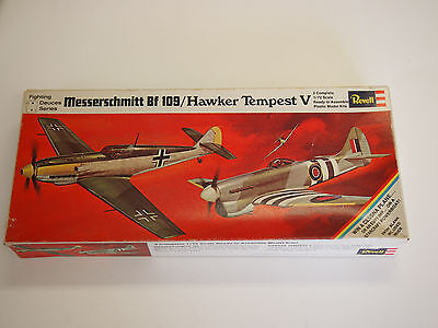 Revell Messerschmitt Bf 109F / Hawker Tempest V RARE 1969 ISSUE Fighting Deuces