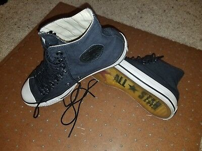 All Star Multi Eyelet - Converse x John Varvatos navy Multi Laced All Star CT Eyelet High Tops*VERY RARE
