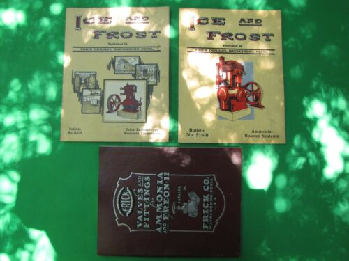 Vintage Frick Co. Calce & Ice and Frost Books