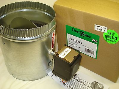 Durozone HVAC Motorized  Electric zone control 24ac power damper dampner 6 inch