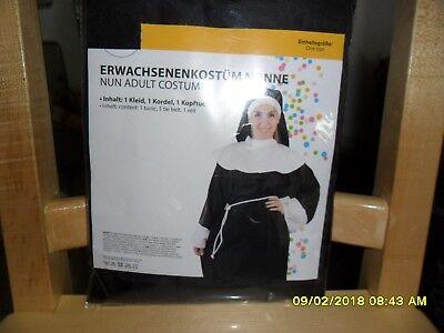 Faschingskostüm für Erwachsene Nonne Einheitsgröße NEU - Nonne Kostüm Für Erwachsene