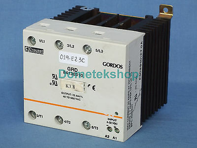 Crouzet Gordos Grd84130310 Solid State Relay 3-phase 60-day Warranty