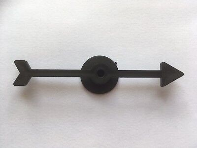 Black 75mm Spinners Pointers With Base Plastic Board Game - 10 PACK