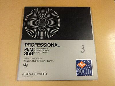 """10"""" (26,50 CM) REEL TAPE AGFA-GEVAERT PROFESSIONAL PEM 368 IN ORIGINAL BOX"""