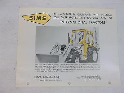Sims International Harvester 2500b Backhoe Loader All Weather Cab Brochure
